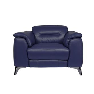 Anabel Blue Leather Power Recliner