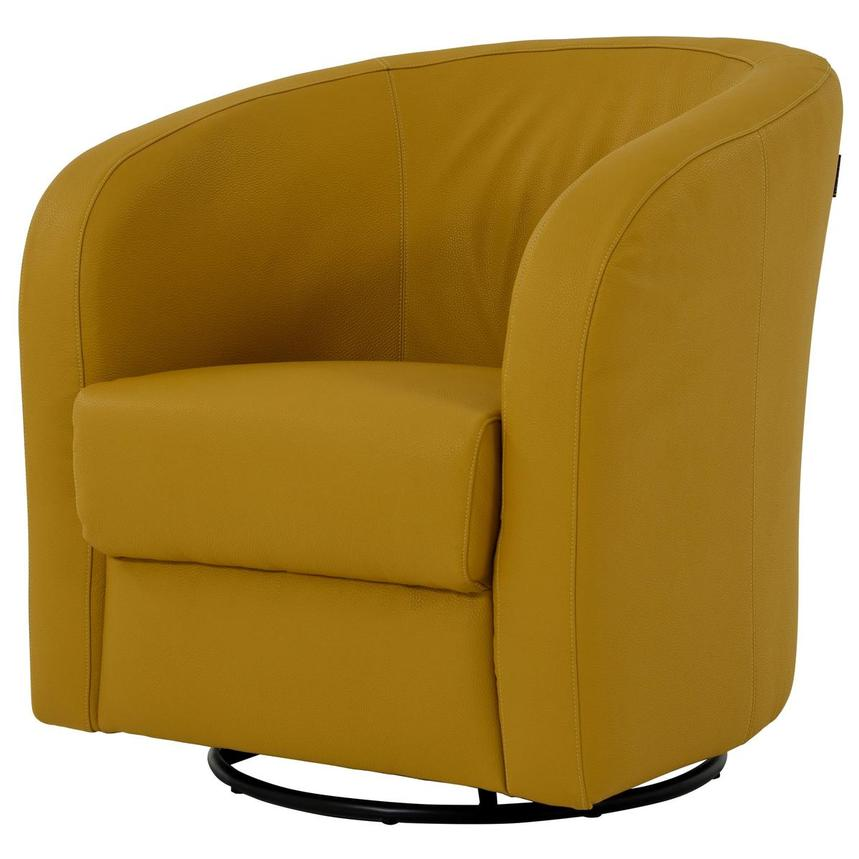 Delia Yellow Swivel Accent Chair  alternate image, 2 of 7 images.