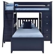 Haus Blue Twin Over Twin Bunk Bed w/Desk & Chest  alternate image, 4 of 12 images.