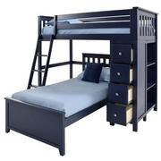 Haus Blue Twin Over Twin Bunk Bed w/Chest  alternate image, 2 of 9 images.
