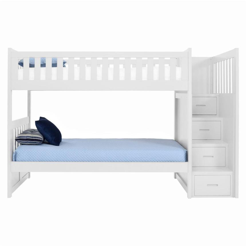 Balto White Twin Over Twin Bunk Bed w/Storage  main image, 1 of 5 images.