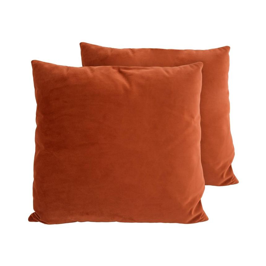 Andy Orange Two Accent Pillows  main image, 1 of 4 images.