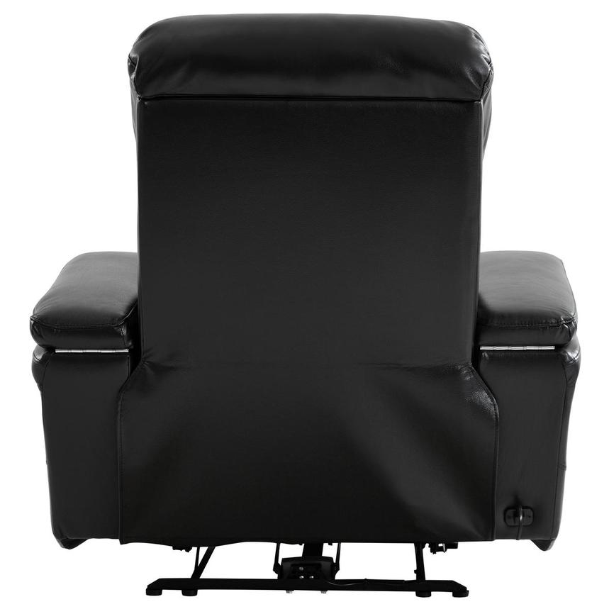 Obsidian Leather Power Recliner w/Massage & Heat  alternate image, 5 of 13 images.