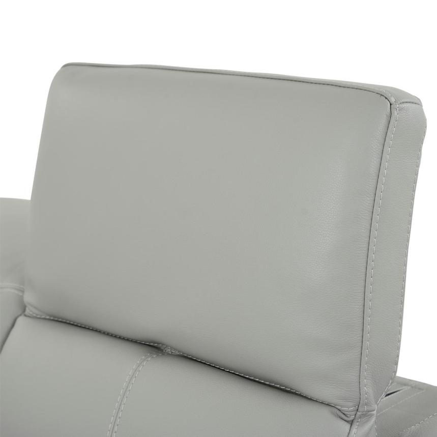 Davis 2.0 Light Gray Leather Power Reclining Loveseat  alternate image, 6 of 10 images.