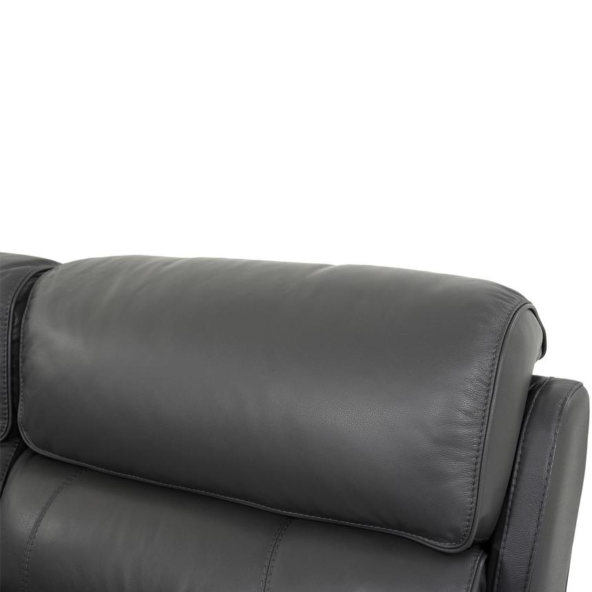 Cody Gray Leather Power Reclining Sectional  alternate image, 6 of 10 images.