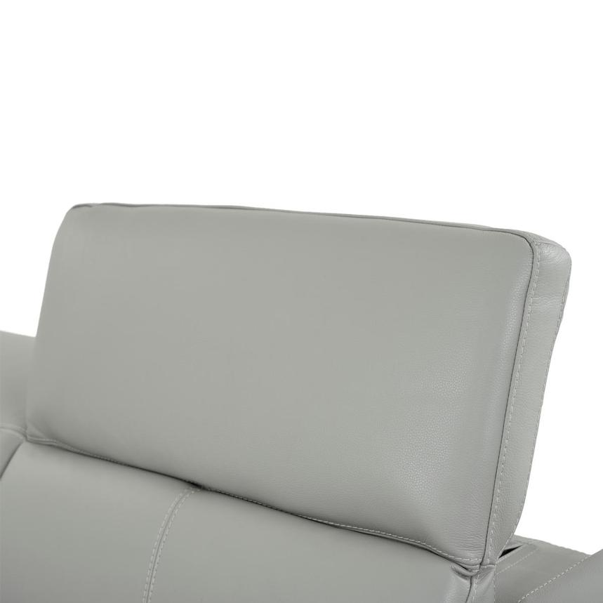 Davis 2.0 Light Gray Leather Power Reclining Sofa  alternate image, 6 of 9 images.