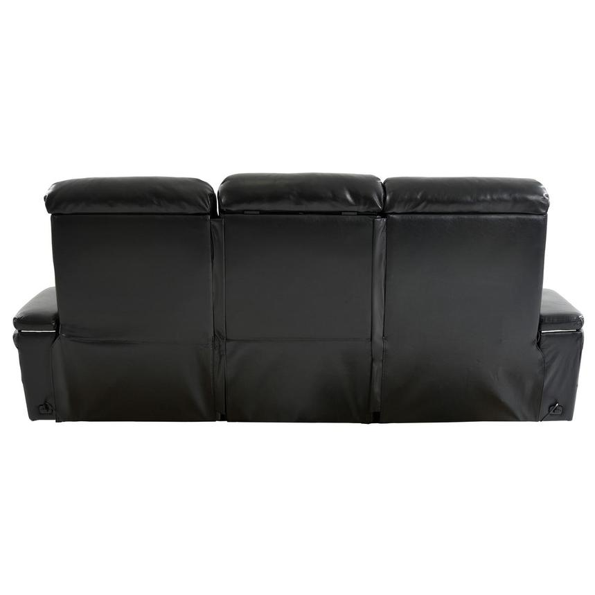 Obsidian Leather Power Reclining Sofa w/Massage & Heat  alternate image, 5 of 16 images.
