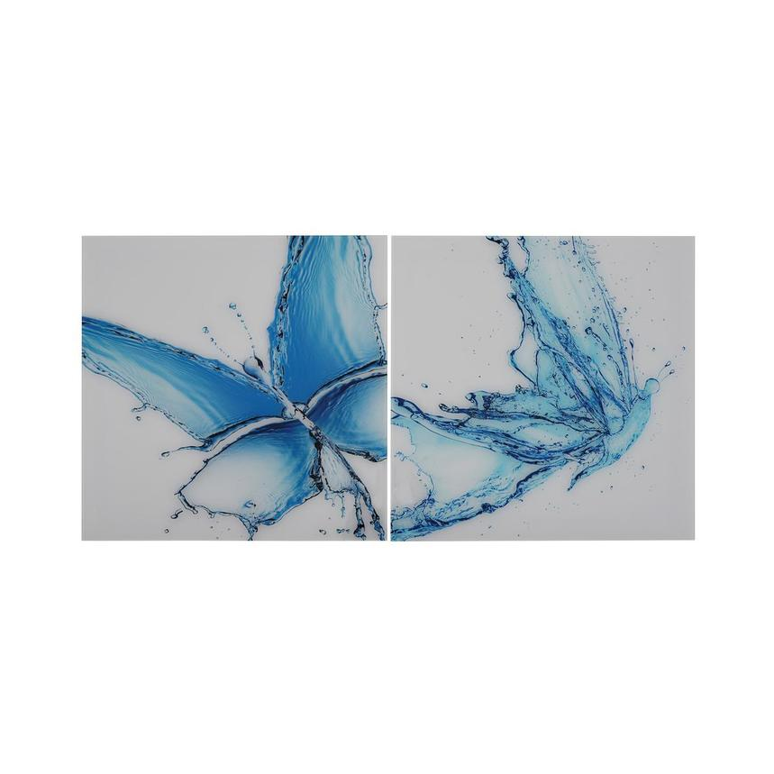 Papillon Bleu Set of 2 Acrylic Wall Art  main image, 1 of 4 images.