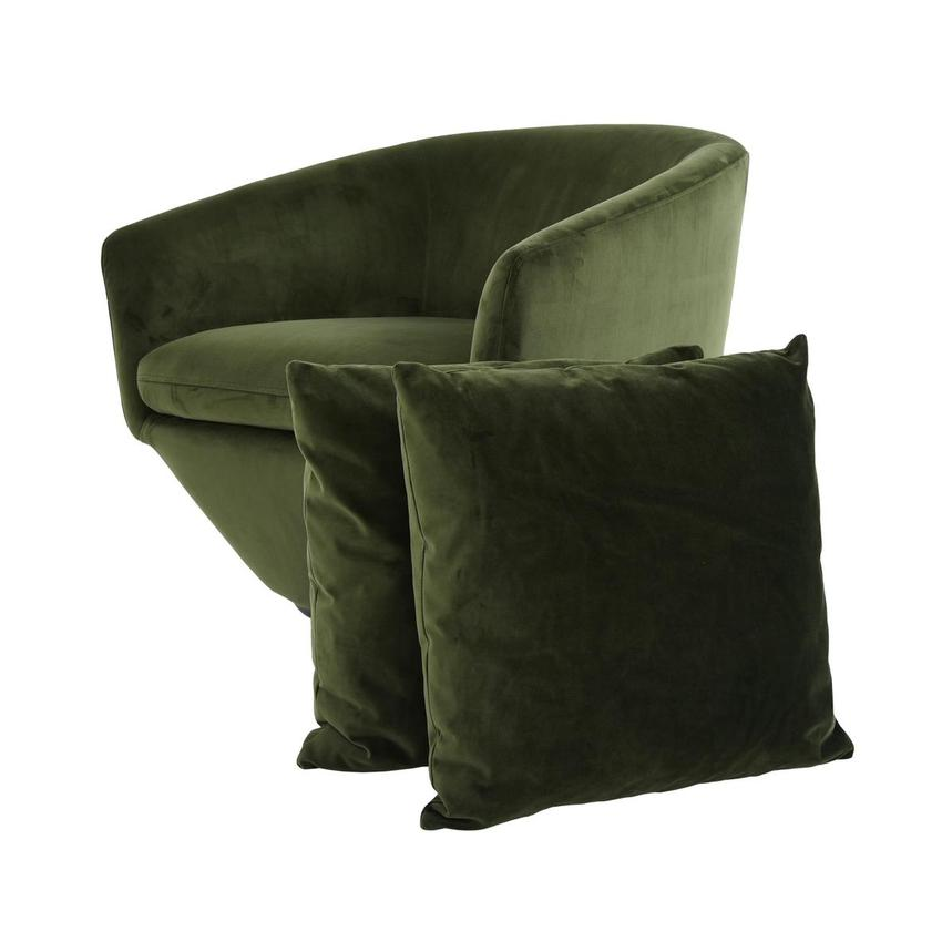 Andy Green Swivel Accent Chair w/2 Pillows  main image, 1 of 10 images.