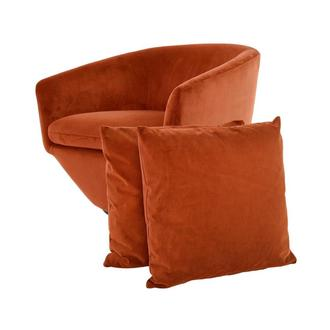 Andy Orange Swivel Accent Chair w/2 Pillows