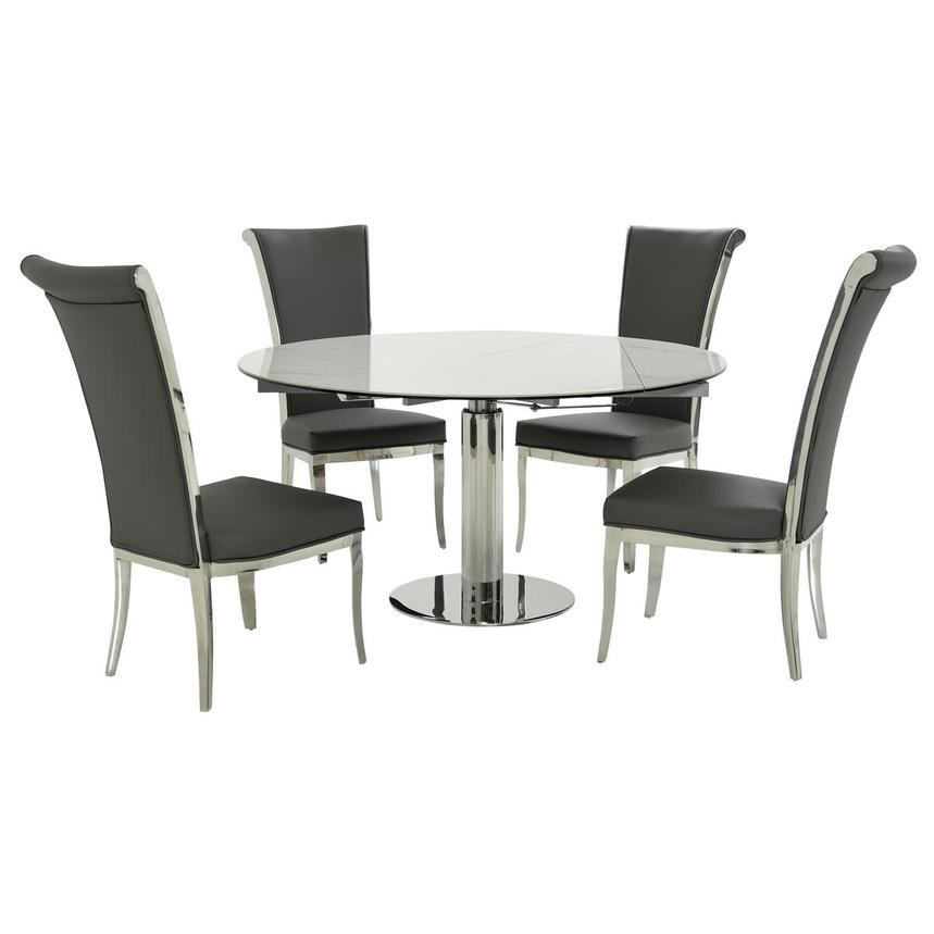 Tami Faux Mable/Joy Gray 5-Piece Dining Set  main image, 1 of 12 images.