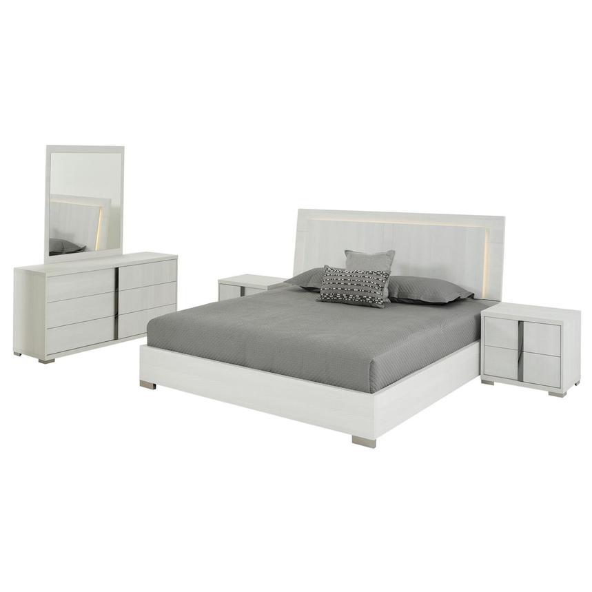 Tivo White 5-Piece King Bedroom Set Made in Italy  main image, 1 of 6 images.