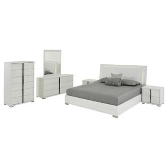 Tivo White 6-Piece King Bedroom Set Made in Italy
