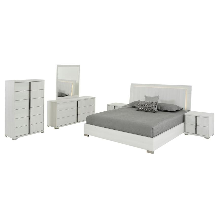 Tivo White 6-Piece Queen Bedroom Set Made in Italy  main image, 1 of 7 images.