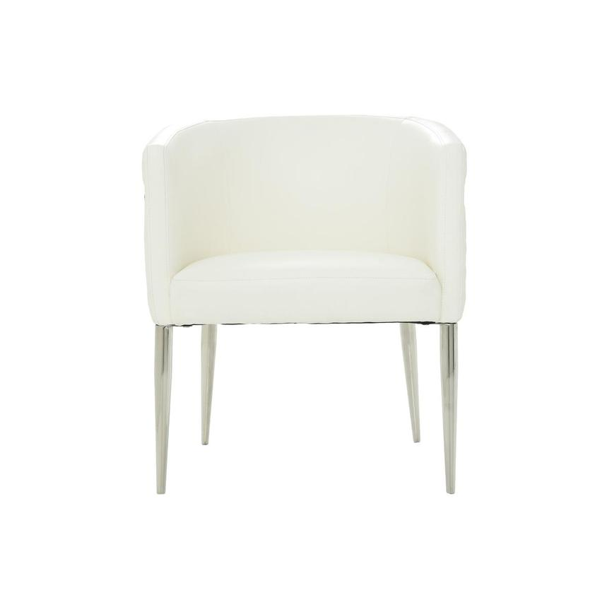 Anastasia White Accent Chair  main image, 1 of 7 images.