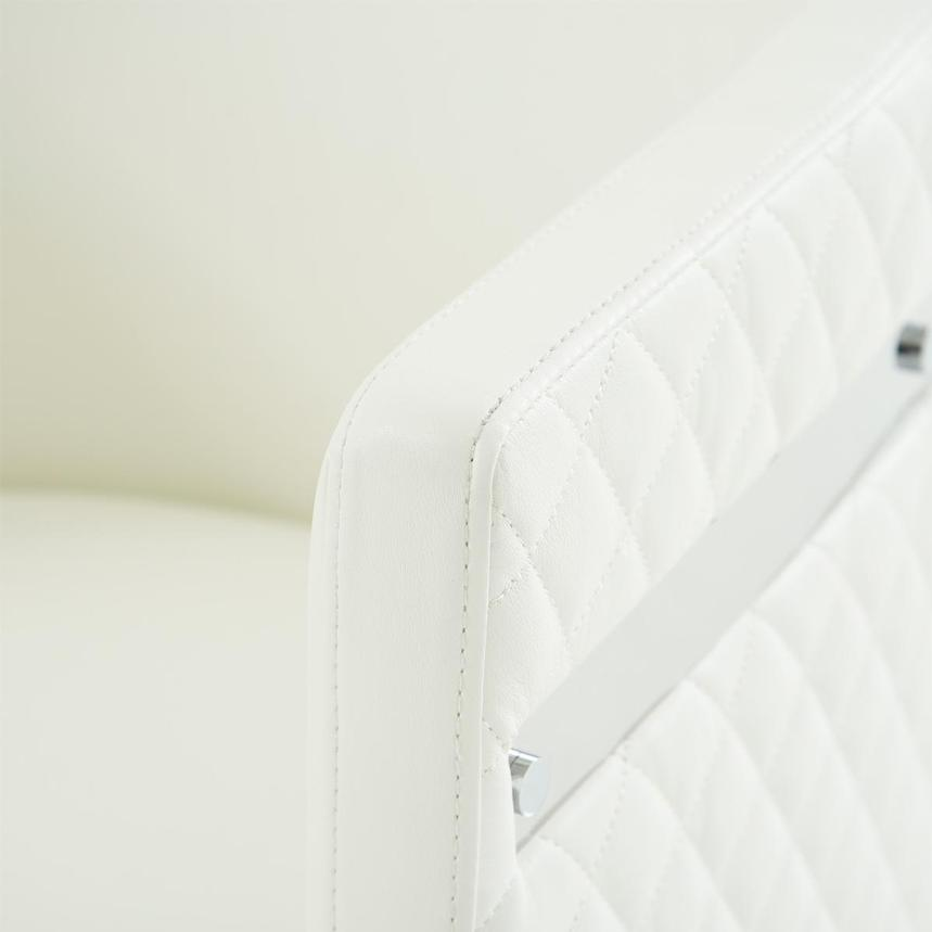 Anastasia White Accent Chair  alternate image, 6 of 7 images.