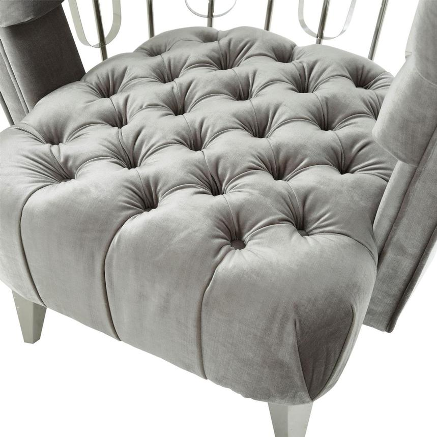 Brody Gray Accent Chair  alternate image, 7 of 9 images.