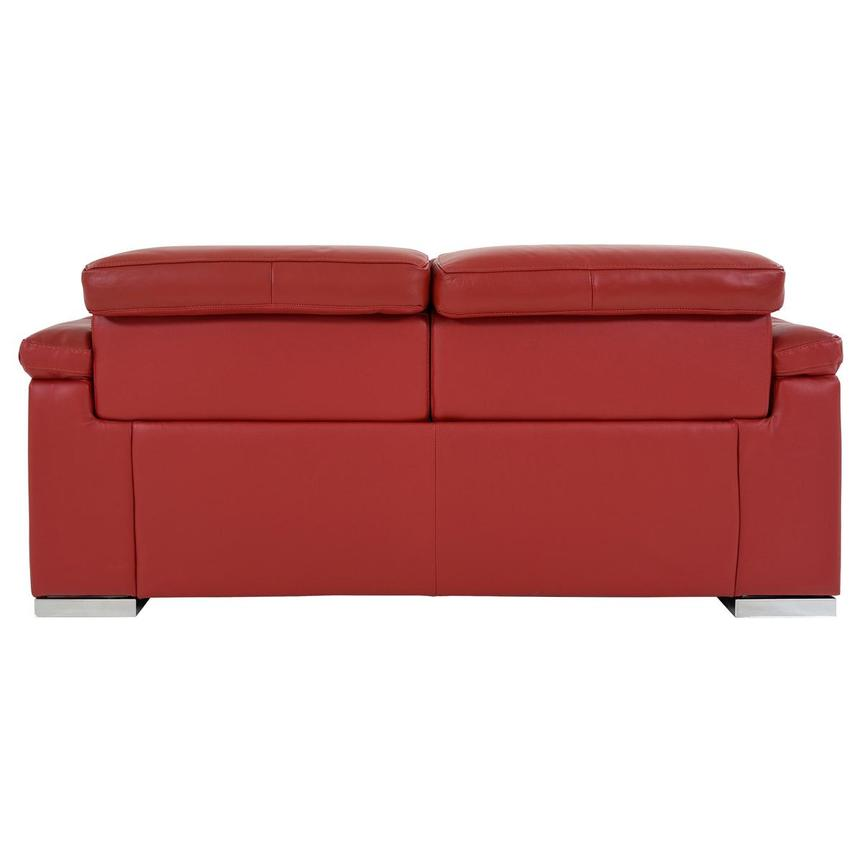 Charlie Red Leather Power Reclining Loveseat  alternate image, 6 of 12 images.