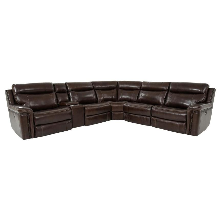 Billy Joe Leather Power Reclining Sectional  alternate image, 2 of 12 images.