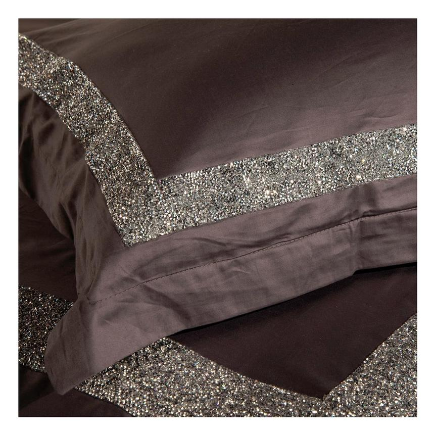 Ava Dark Gray Queen Duvet Cover Set  main image, 1 of 2 images.