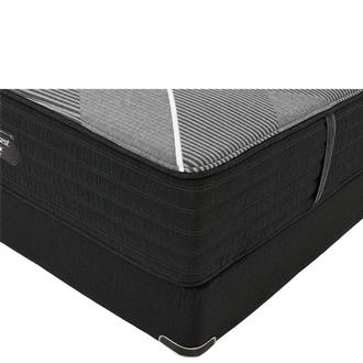 BRB-X-Class Hybrid Firm Queen Mattress w/Low Foundation by Simmons Beautyrest Black Hybrid