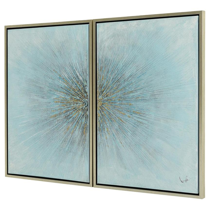 Eclater Blue Set of 2 Canvas Wall Art  alternate image, 2 of 4 images.