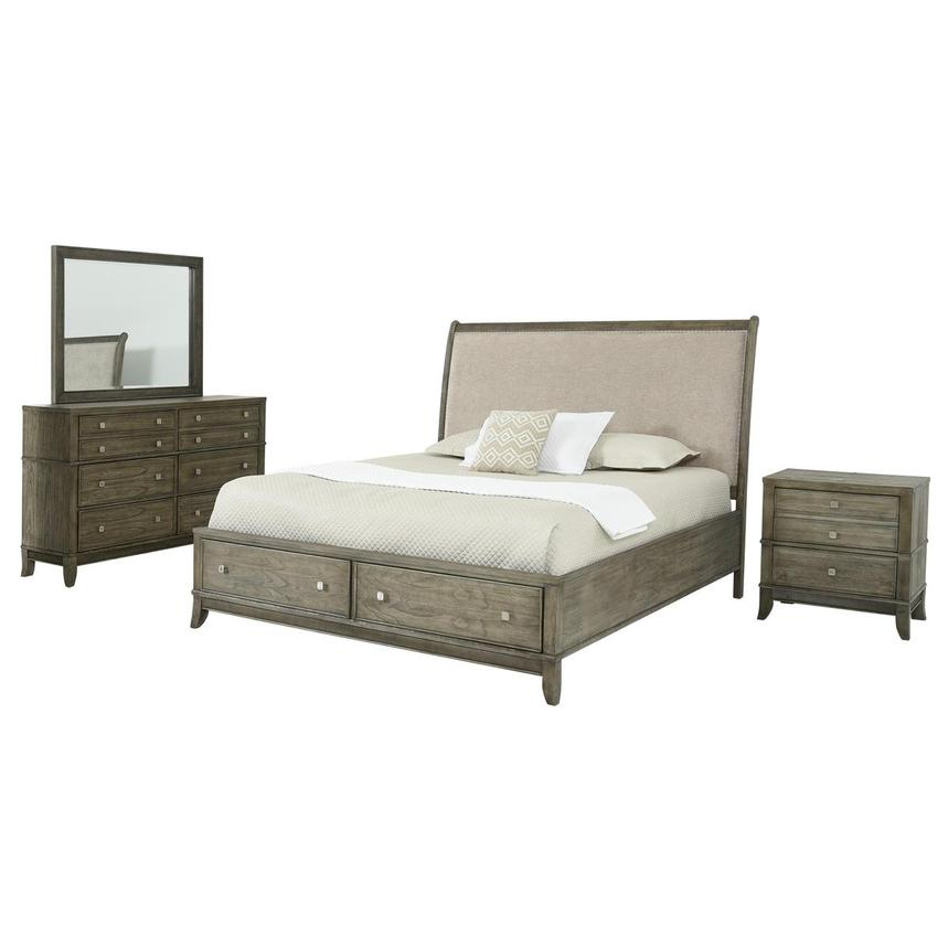 Raquel 4-Piece Queen Bedroom Set  main image, 1 of 6 images.