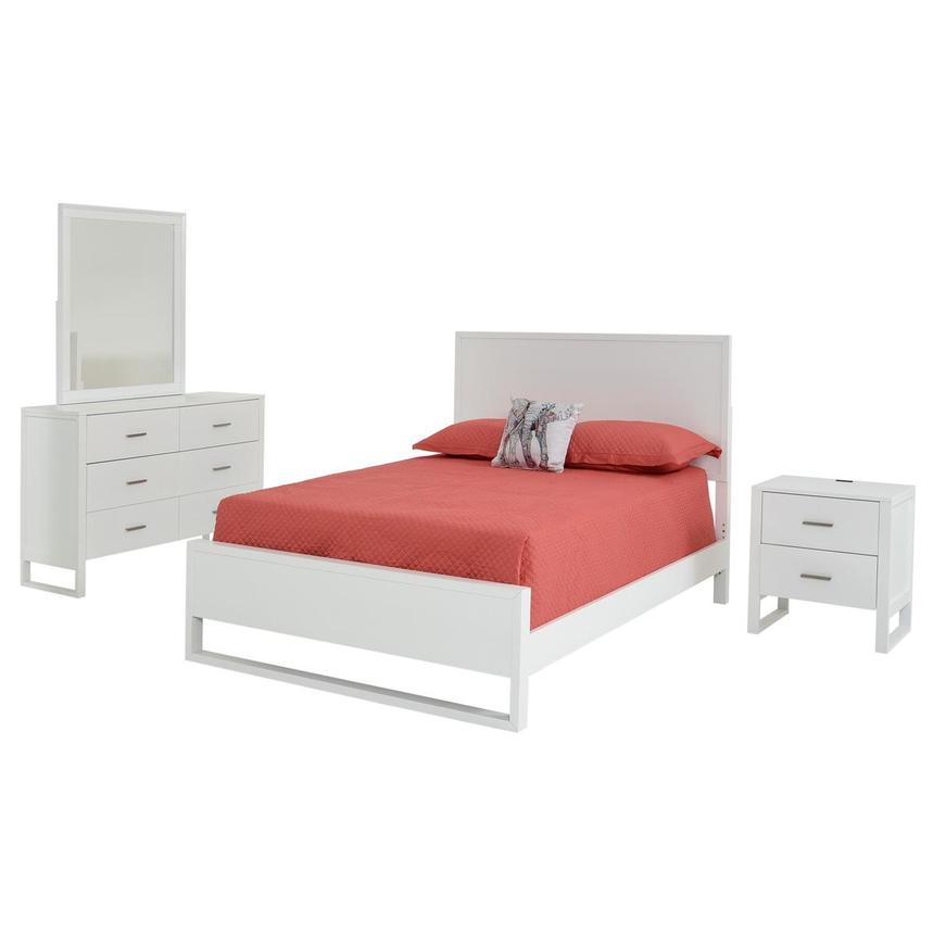 Mira White 4-Piece Twin Bedroom Set  main image, 1 of 5 images.