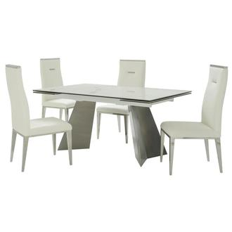 Imperium/Hyde I White 5-Piece Formal Dining Set