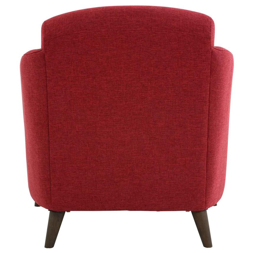 Haisley Red Accent Chair w/Ottoman  alternate image, 6 of 15 images.