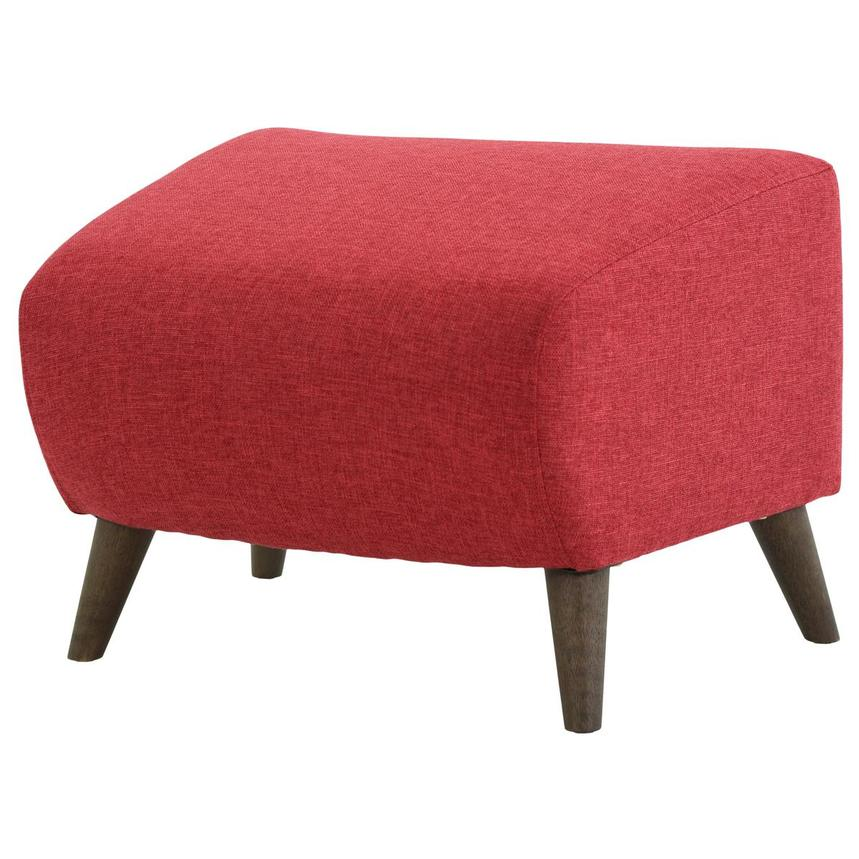 Haisley Red Accent Chair w/Ottoman  alternate image, 11 of 15 images.