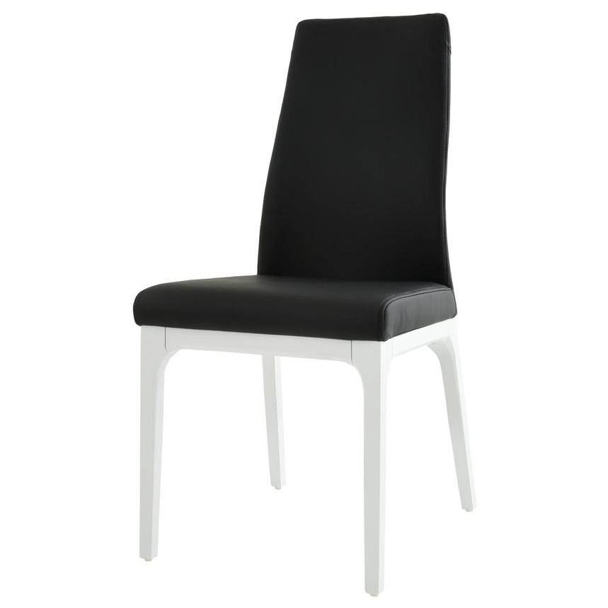 Valencia White/Black Leather Side Chair  alternate image, 2 of 6 images.