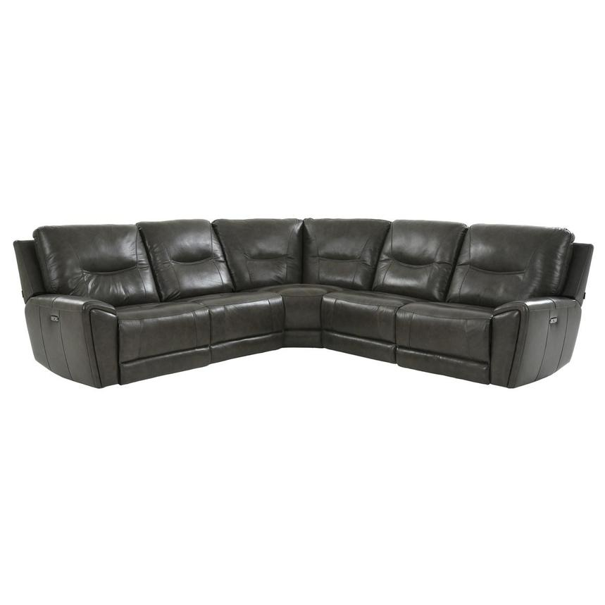 London Leather Power Reclining Sectional  main image, 1 of 9 images.