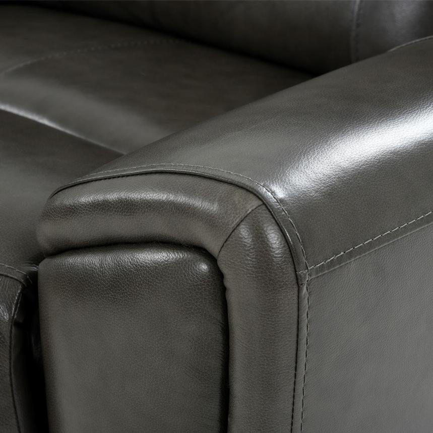 London Leather Power Reclining Sectional  alternate image, 7 of 9 images.