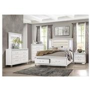 Stephanie White Queen Storage Bed  alternate image, 2 of 9 images.