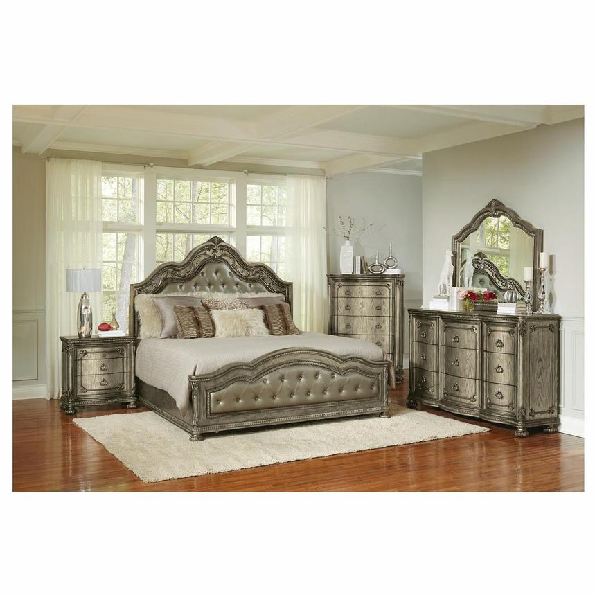 Granada Gray Queen Panel Bed  alternate image, 2 of 6 images.
