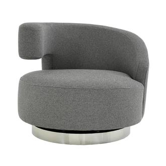Okru Dark Gray Swivel Chair
