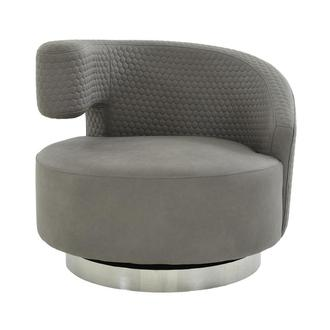 Okru Light Gray Swivel Chair