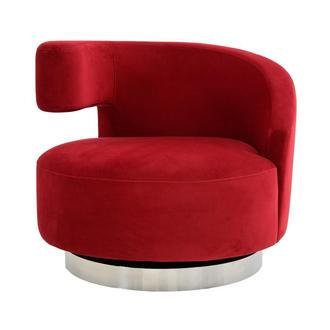 Okru Red Swivel Chair