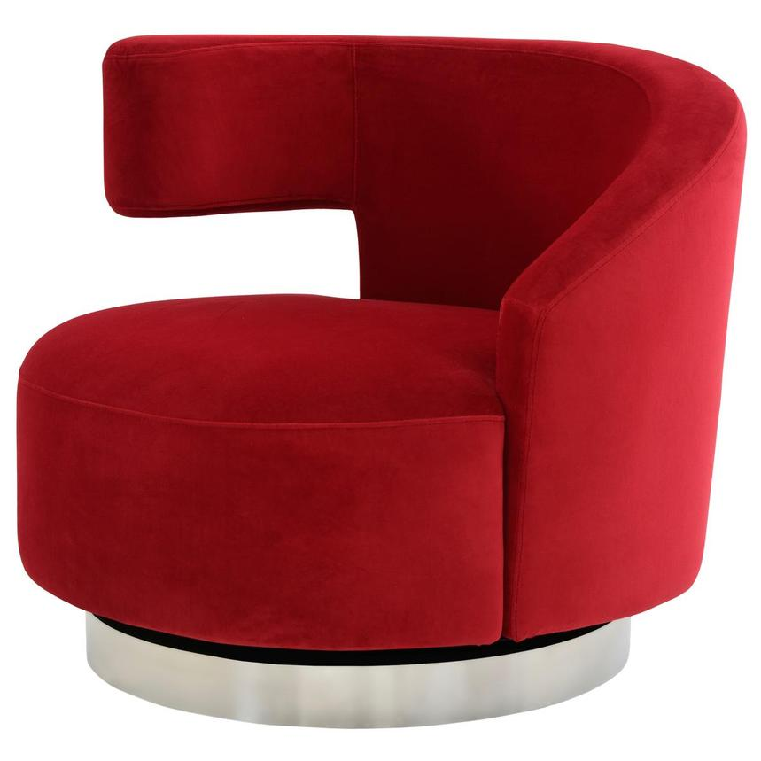 Okru Red Swivel Chair  alternate image, 2 of 7 images.