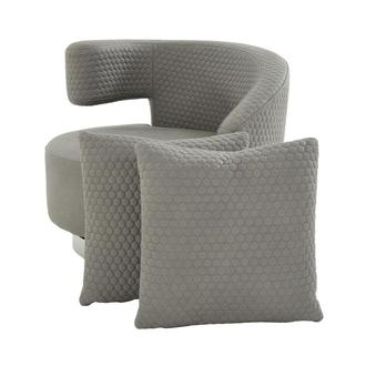 Okru Light Gray Swivel Chair w/2 Pillows