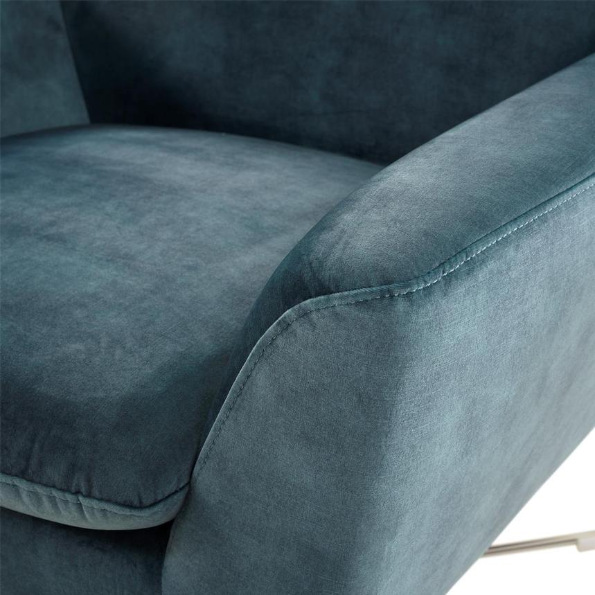 Grigio Turquoise Accent Chair  alternate image, 5 of 7 images.