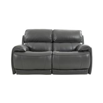 Cody Gray Leather Power Reclining Loveseat