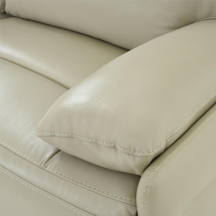 Benz Cream Leather Power Reclining Sectional  alternate image, 7 of 12 images.