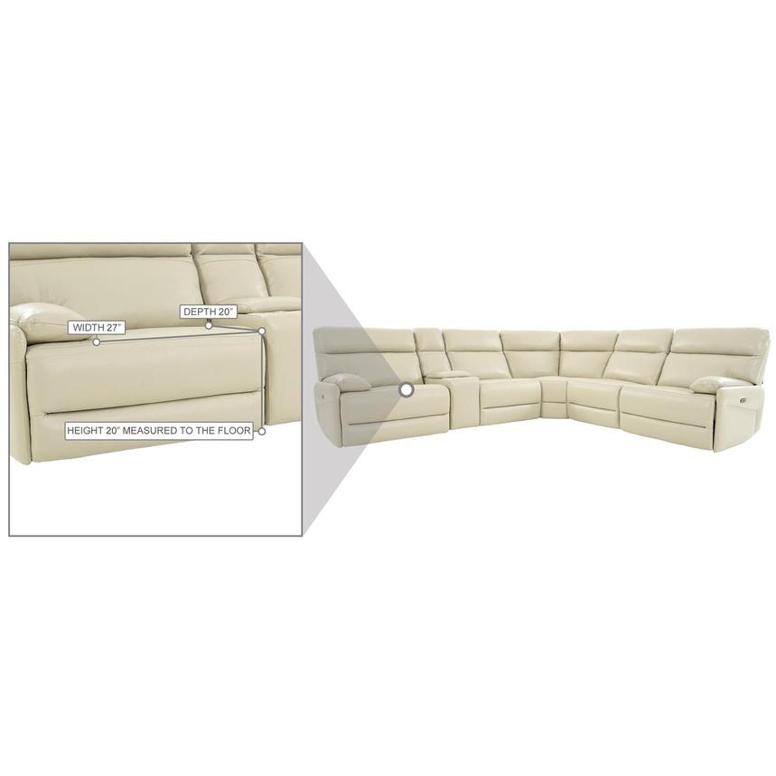 Benz Cream Leather Power Reclining Sectional  alternate image, 12 of 12 images.