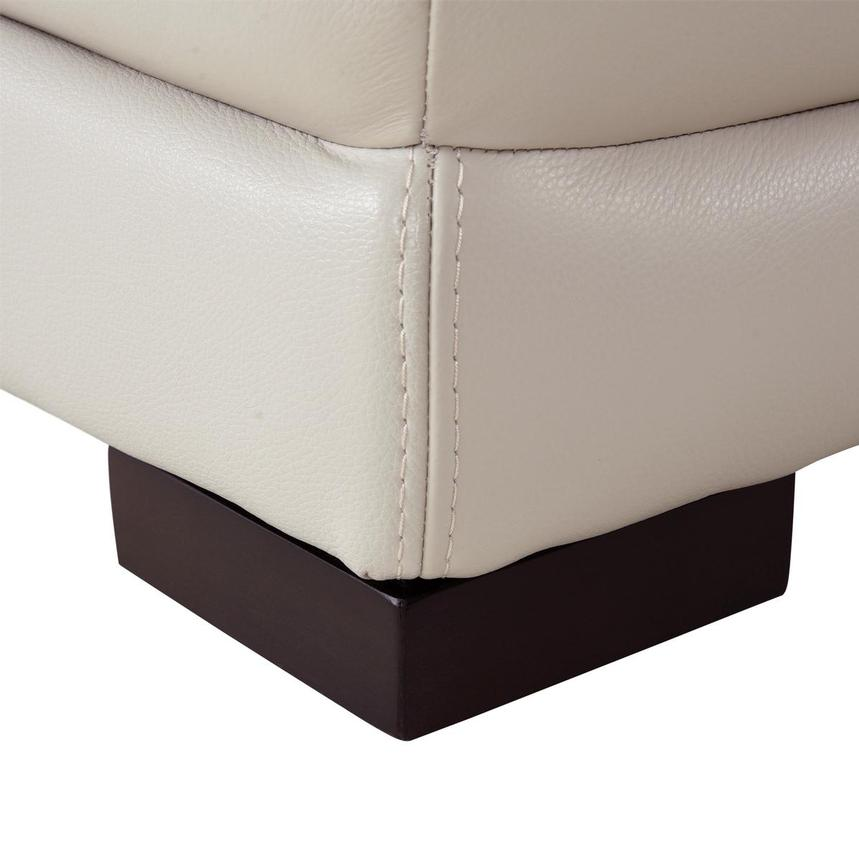Gian Marco Cream Leather Power Reclining Sectional w/Left Chaise  alternate image, 7 of 10 images.