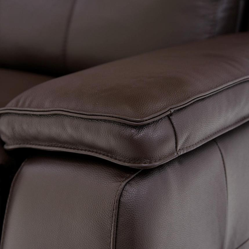 Gian Marco Dark Brown Leather Power Reclining Sectional w/Right Chaise  alternate image, 5 of 9 images.