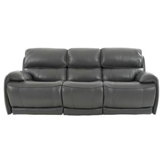 Cody Gray Leather Power Reclining Sofa