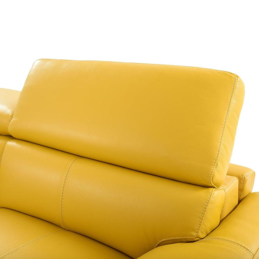 Gabrielle Yellow Leather Power Reclining Sofa  alternate image, 7 of 11 images.