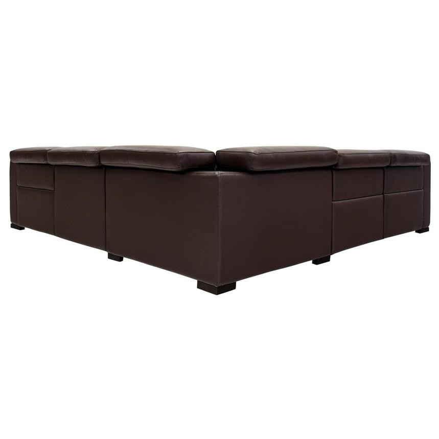 Gian Marco Dark Brown Leather Power Reclining Sectional  alternate image, 4 of 8 images.